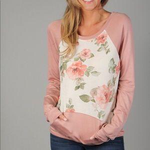 PS Kate pink floral sweatshirt-BNWT